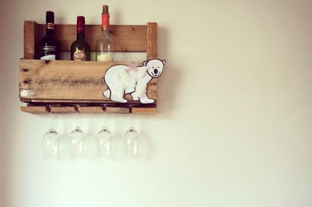 Keukenspullen Outlet : Shop hier het wijnrek van gerecycled pallethout