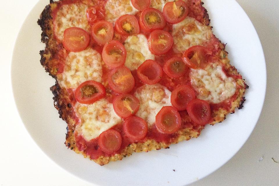 Vetvrije bloemkoolpizza