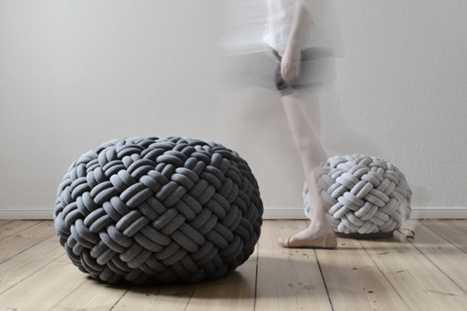 PERFECT FIND: knotty floor cushion