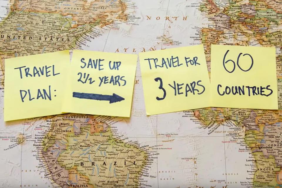 Drie jaar reizen in vier minuten