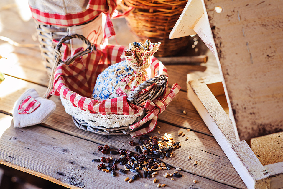 Vogelvoer maken met pindakaas